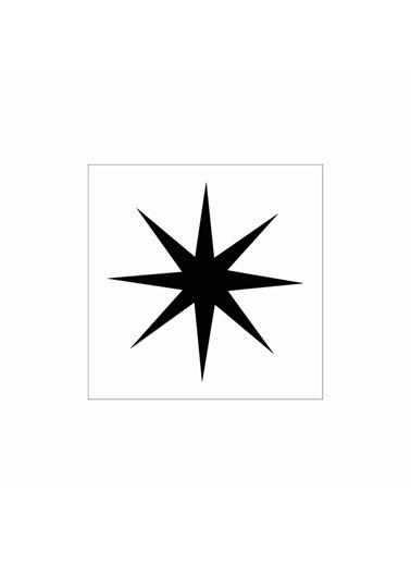 Artikel 8 Uçlu Yıldız Stencil Tasarımı 30 x 30 cm Renkli